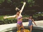 Fernanda Pontes sobre a primogênita Malu: 'Ela nos corrige no inglês'