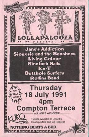 Cartaz anuncia a primeira edição do Lollapalooza (Foto: Divulgação )
