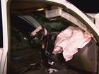 Motorista fica ferido após bater picape em caminhão de cana em Ribeirão