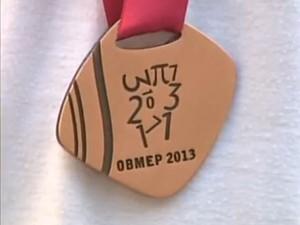 Medalhistas da Obmep em Divinópolis, MG (Foto: TV Integração/Reprodução)
