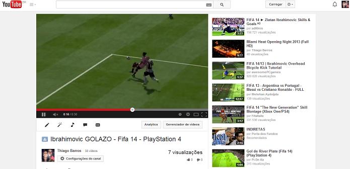 Poste seu vídeo no YouTube (Foto: Thiago Barros/Reprodução)