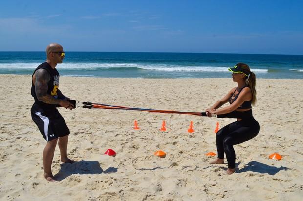 Robertha Portella mostra treino para o EGO (Foto: Rodrigo Mesquita / Divulgação)