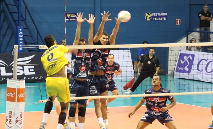 Vôlei Taubaté x Santo André (Foto: Divulgação Funvic Taubaté/São Paulo FC)