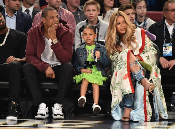 Jay-Z, Blue Ivy e Beyoncé (Foto: getty Images)