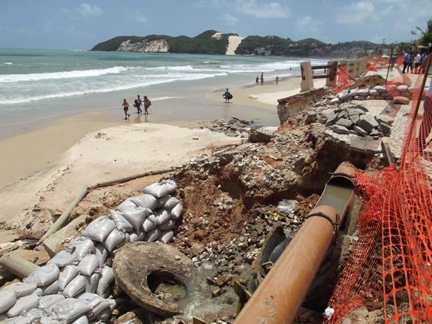 Calçadão Ponta Negra (Foto: Fernanda Zauli/G1)