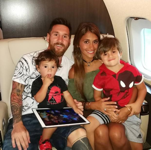 Lionel Messi e Antonella Roccuzzo (Foto: Reprodução/Instagram)