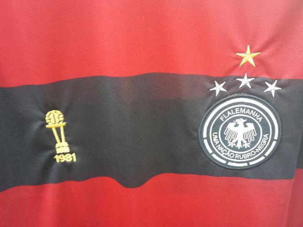 Camisa Flalemanha com detalhe de campeão do mundo