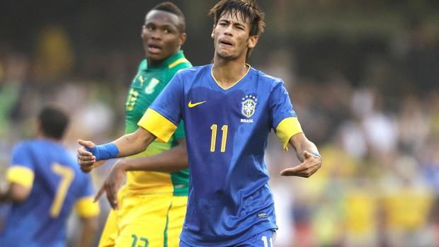 Neymar, Brasil x Africa do Sul (Foto: Agência AP)
