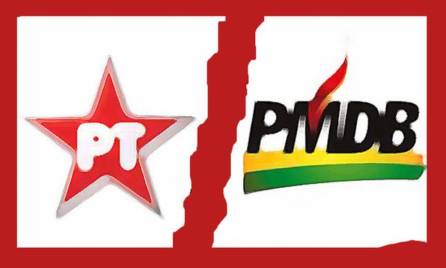 PT x PMDB (Foto: Arquivo Google)