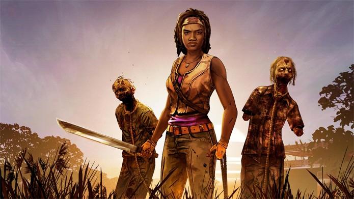 The Walking Dead: Michonne coloca a adorada personagem como centro das atenções (Foto: Divulgação/Telltale)