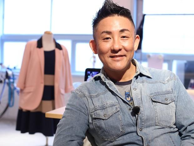 Marcello Mitsui é considerado o primeiro estilista no Japão a trabalhar somente com moda GG (Foto: BBC)