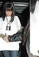 Rihanna aposta em correntes grossas como acessório. Veja opções