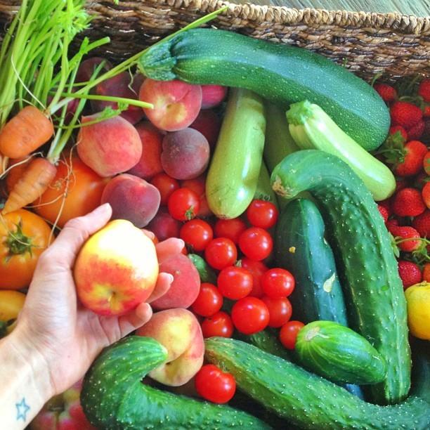 Legumes, vegetais e frutas são a base da dieta da família (Foto: Reprodução/ Instagram)