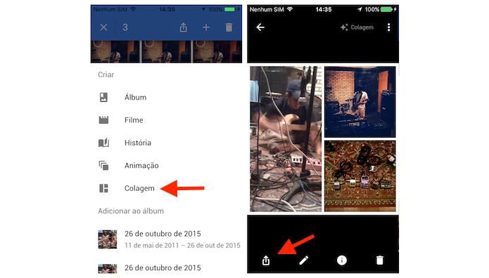 Criando uma colagem com o Google Photos para iPhone (Foto: Reprodução/Marvin Costa)