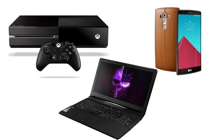 Jogadores pode substituir iPad Pro por Xbox One, LG G4 e notebook gamer (Foto: Arte/Divulgação)