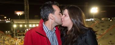 Casal celebra 10 anos de união após 1º beijo na Festa do Peão (Mateus Rigola/G1)