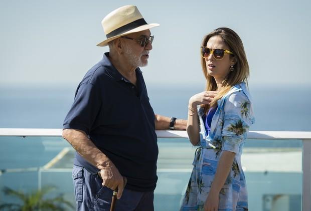 Lima Duarte e Tatá Werneck em cena na novela I Love Paraisópolis (Foto: Globo/Tata Barreto)