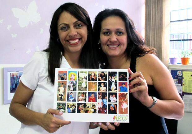 Professoras exibem livro publicado a partir do trabalho dos seus alunos (Foto: Mariane Rossi/G1)