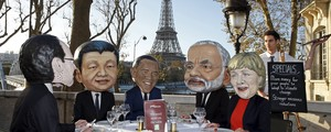 Ambientalistas protestam antes  da Cúpula do Clima de Paris (Benoit Tessier / Reuters)