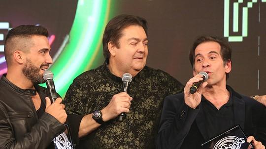 Faustão brinca com forma física do trio formado por ele, Leandro Hassum e André Marques