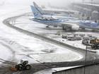 Neve no norte do Reino Unido fecha escolas e provoca suspensão de voos