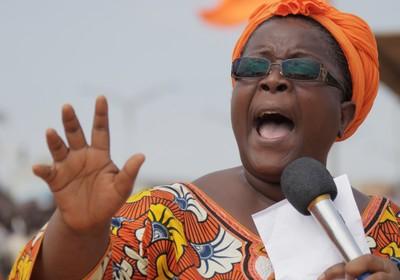 "A responsável do ""Coletivo Salvemos Togo"", Isabelle Ameganvi (Foto: AP Photo/ Erick Kaglan)"