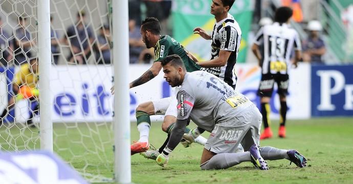 Palmeiras x Santos Final Gol Leandro Pereira (Foto: Marcos Ribolli)
