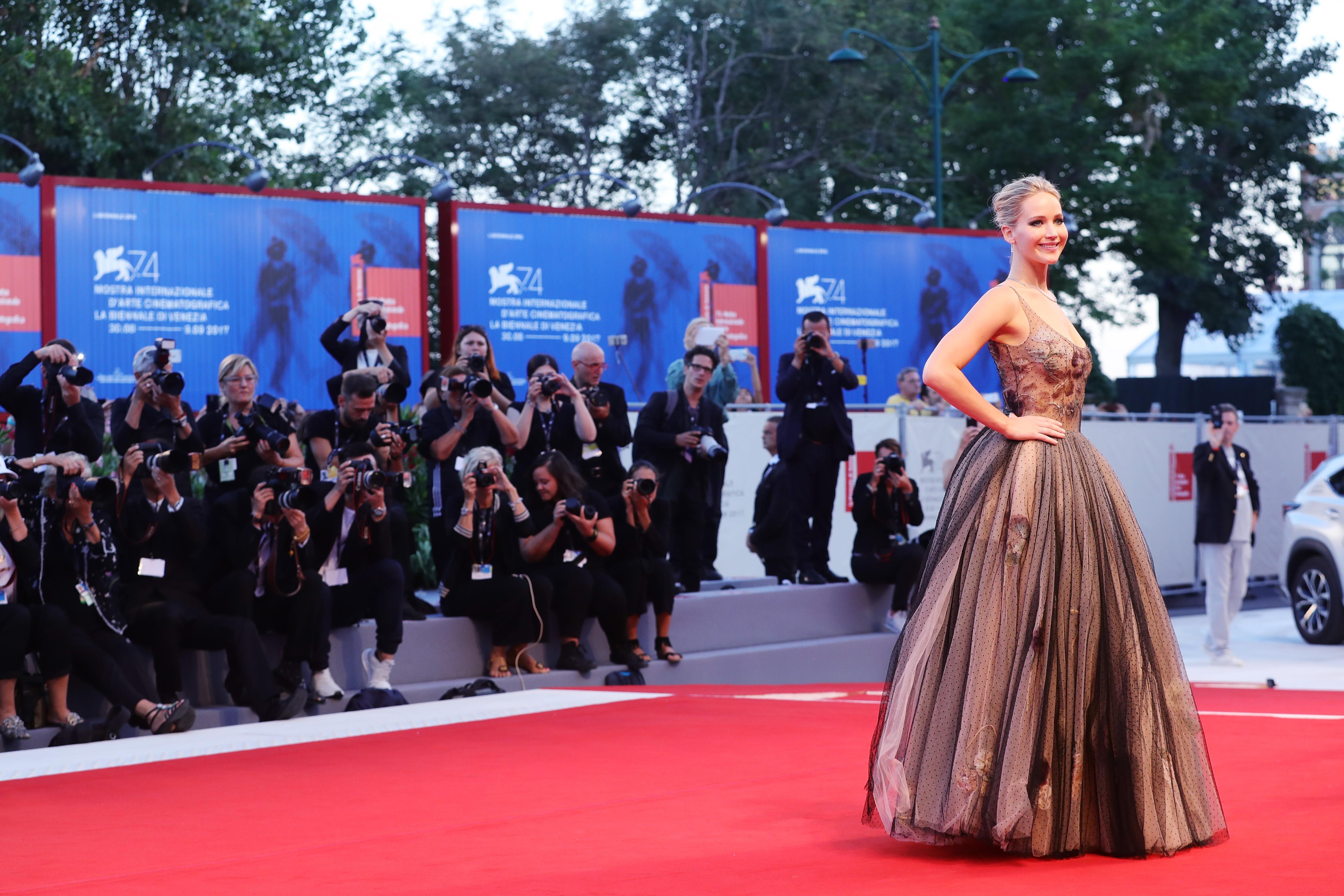 Jennifer Lawrence no Festival de Veneza (Foto: Getty)