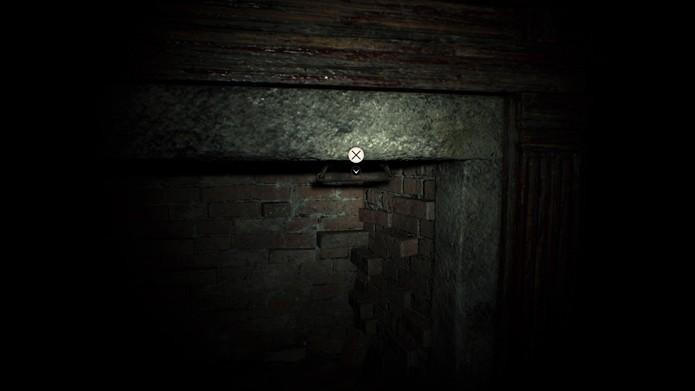 Puxe a corrente para abrir a passagem secreta (Foto: Reprodução/André Mello)