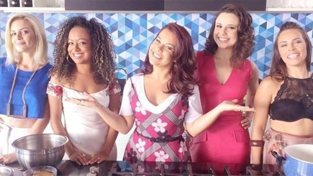 Renata Del Bianco, Aretha Oliveira, Fernanda Souza, Francis Helena e Gisele Frade (Foto: Reprodução)
