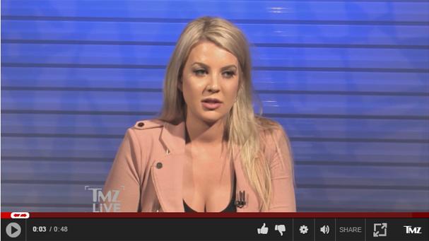 Baylee Curran fala sobre o caso em entrevista ao TMZ (Foto: Reprodução TMZ.com)