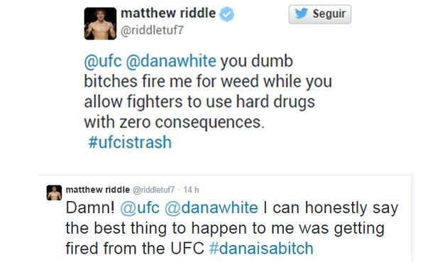 matthew riddle ufc twitter (Foto: Reprodução)