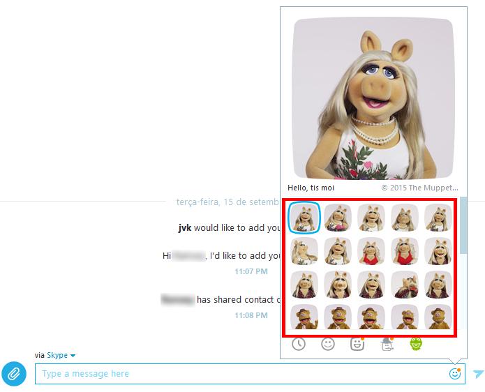 Skype permite ver clipes antes de enviá-los (Foto: Reprodução/Skype)