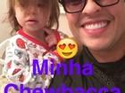 Ceará posta foto com a filha e brinca: 'Esqueci de levar ao petshop'