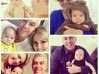 Ana Hickmann posa com marido e filho: 'Momentos que me fazem feliz!'