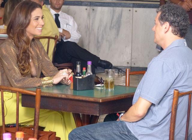 Giovanna Antonelli e Marcelo Airoldi gravam (Foto: Salve Jorge / TV Globo)