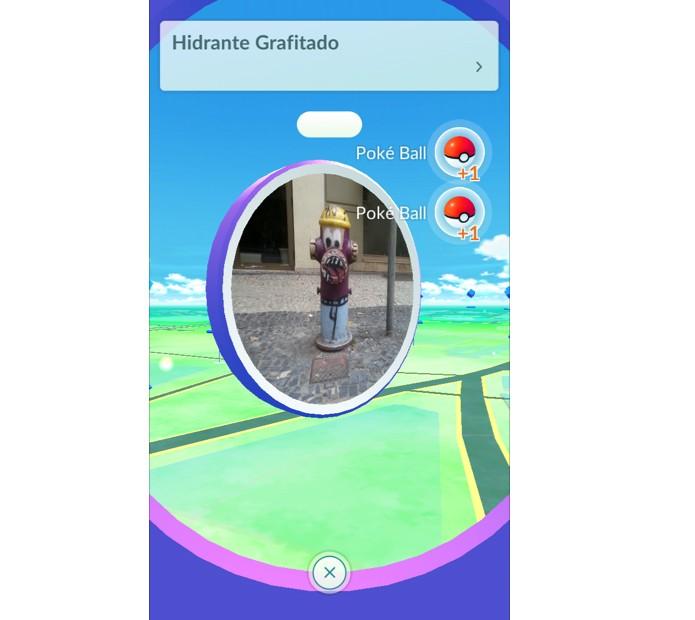 Colete itens nos Pokéstops em Pokémon GO (Foto: Reprodução/Thiago Barros)