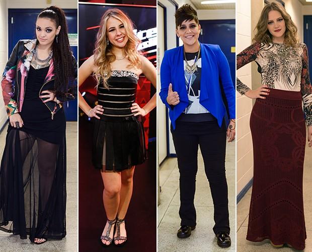 Cantoras convidam o público a usar a ferramenta Monte Seu Look (Foto: Camila Serejo/Gshow)
