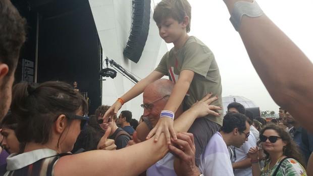 Maria Paula e Eduardo Suplicy no Rock in Rio (Foto: Marlia Lamas/Multishow)
