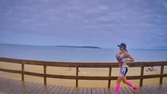 Natação, pedal e corrida: Alessandra afasta asma e bronquite com triatlo