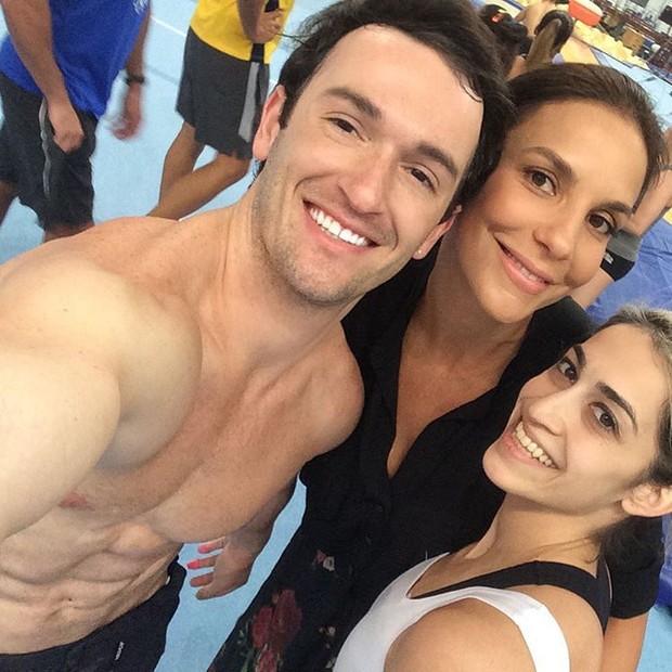 Diego Hypolito, Ivete Sangalo e Danielle Hypolito (Foto: Instagram / Reprodução)