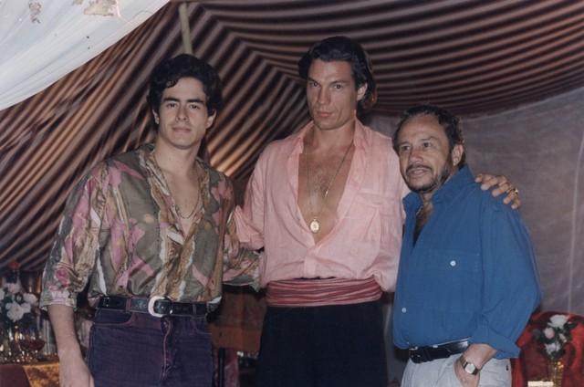 Ricardo Macchi com Felipe Folgosi e Stênio Garcia em 'Explode coração' (Foto: Arquivo)