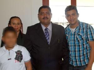 Vereador Dico Silveira com a família (Foto: Arquivo Pessoal/Gabriel Penha)