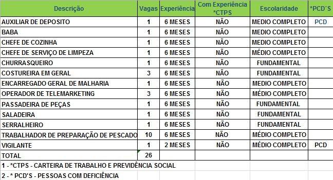 Sine oferece 26 vagas de emprego nesta quarta-feira (22) (Foto: Divulgação/Sine)