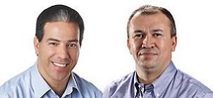 Candidatos a prefeito de Montes Claros, Paulo Guedes e Ruy Muniz vão para o 2º turno (Foto: Arte/G1)