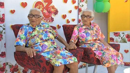 Irmãs gêmeas comemoram 93 anos em Pacatuba, no Ceará