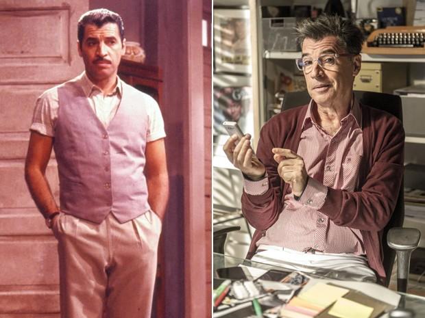 Paulo Betti em 1989 e 2014 (Foto: CEDOC / Renato Rocha Miranda / TV Globo)