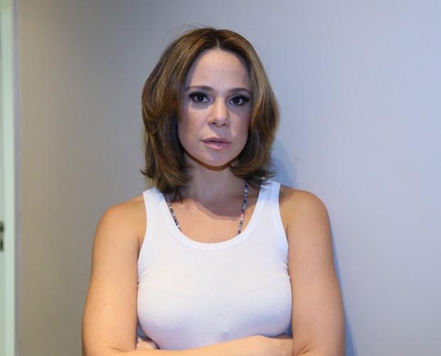 Vanessa Gerbelli exibe novo visual nos bastidores do Domingão (Foto: Carol Caminha/ Gshow)