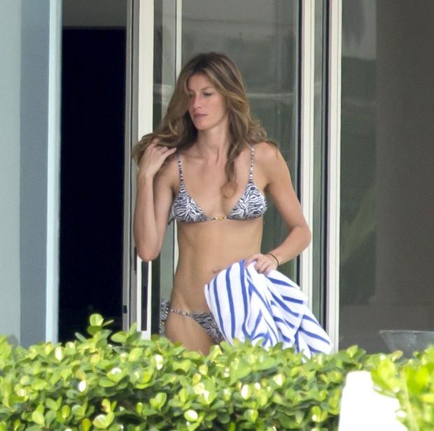 Gisele Bündchen em Miami, nos Estados Unidos (Foto: AKM-GSI Brasil/ Splash News)
