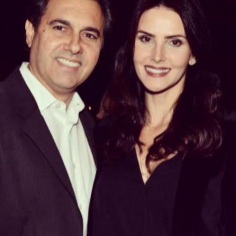 Lisandra e o namorado, Gustavo (Foto: Reprodução)
